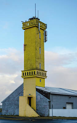 Photograph - Sangerdi Lighthouse Reykjanes Peninsula Iceland by Deborah Smolinske