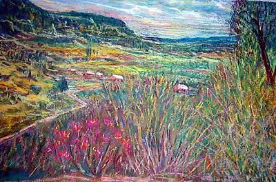 Sangre De Christo Mountain Mora Valley Art Print by Richalyn Marquez