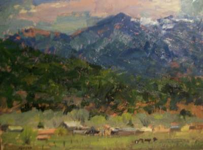 Christo Painting - Sangre De Christo by Onyx Gallery of Kemper Coley Fine Art