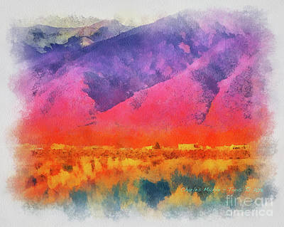 Painting - Sangre De Cristo In Aquarelle by Charles Muhle