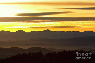 Steven Krull Royalty-Free and Rights-Managed Images - Sangre De Cristo Misty Sunset by Steven Krull