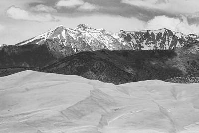 Sangre De Cristo Mountains And The Great Sand Dunes Bw Art Print by James BO  Insogna