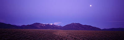 Sangre De Cristo Mountains At Sunset Art Print by Panoramic Images