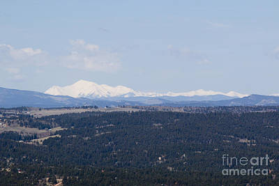 Steven Krull Royalty-Free and Rights-Managed Images - Sangre De Cristo Mountains From Bald Mountain Colorado by Steven Krull
