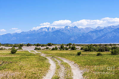 Crestone Photograph - Sangre De Cristos From The Old Medano Ranch by Scotts Scapes