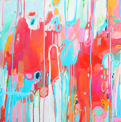 Drip Painting - Sangria Dance by Stacy Vosberg