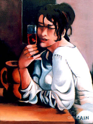 Painting - Sangria Lady by William Cain