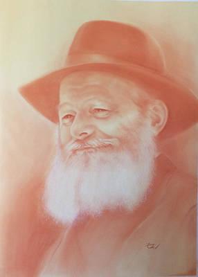 Judaica Drawing - Sanguine Portrait by Estee Klein