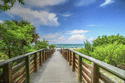 Photograph - Sanibel Beach Access by Donna Kennedy