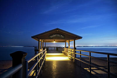 Stars Photograph - Sanibel City Pier by Chrystal Mimbs