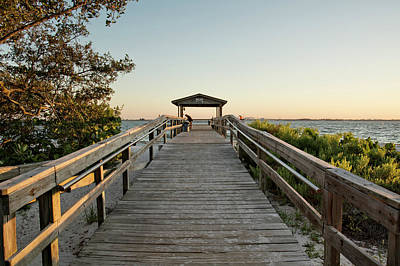Photograph - Sanibel Fishing Pier by Chrystal Mimbs