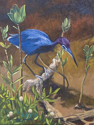 Peter Muzyka Wall Art - Painting - Sanibel Heron by Peter Muzyka