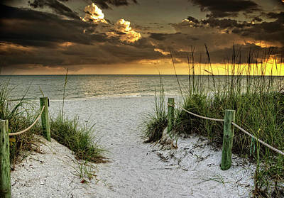 Sanibel Island Beach Access Art Print by Greg Mimbs