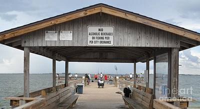 Photograph - Sanibel Island Fishing Pier by John Black