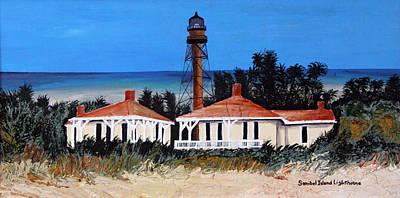 Sanibel Island Painting - Sanibel Island Lighthouse by Ann Iuen