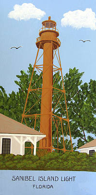 Painting - Sanibel Island Lighthouse by Frederic Kohli