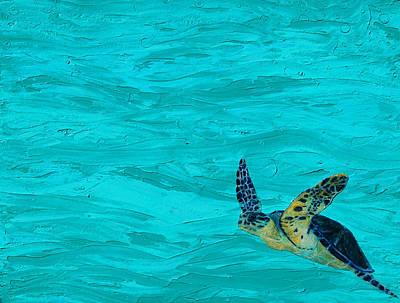 Green Sea Turtle Painting - Sanibel by Kristen Ashton