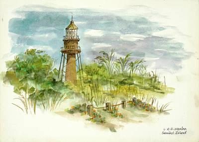 Sanibel Island Painting - Sanibel Light by E E Scanlon