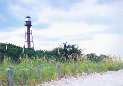 Lighthouse By The Ocean Painting - Sanibel Sunrise - Sanibel Lighthouse by Chrystyne Novack