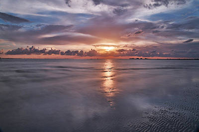 Evening Photograph - Sanibel Sunset-sanibel Island Fl by J Darrell Hutto