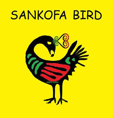 Digital Art - Sankofa Bird by Adenike AmenRa