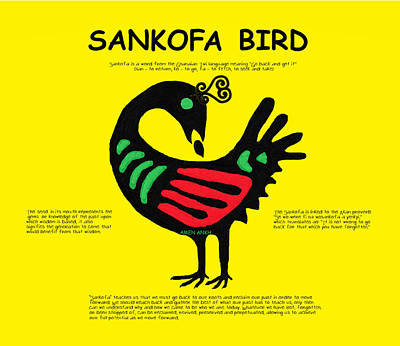 Digital Art - Sankofa Bird Of Knowledge by Adenike AmenRa