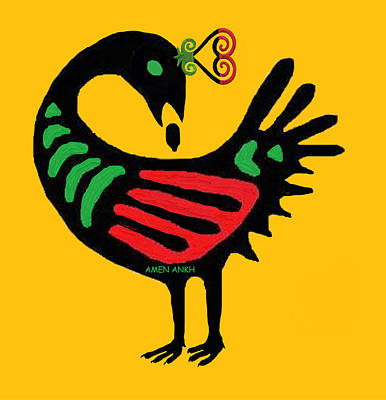 Tapestry - Textile - Sankofa Go Back And Fetch by Adenike AmenRa