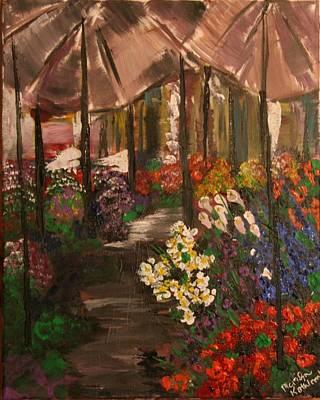 Sanremo Flower Market Original by Marilyn Quigley