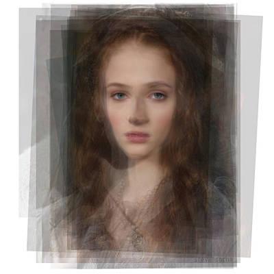 Hbo Digital Art - Sansa Stark Game Of Thrones by Steve Socha