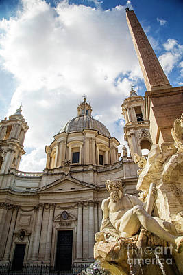 Photograph - Sant' Agnese Church by Scott Kemper