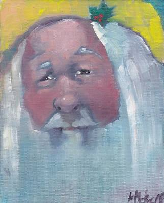 Painting - Santa 2  by Kevin McKrell