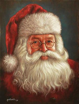 Painting - Santa 2017 by Glenn Pollard
