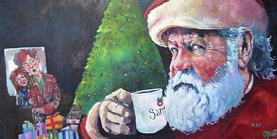 Painting - Santa 2017 by Kevin McKrell