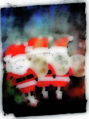 Eve Photograph - Santa Abstract Illustration by Tom Gowanlock