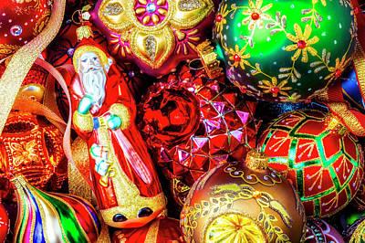 Photograph - Santa Among Ornaments by Garry Gay