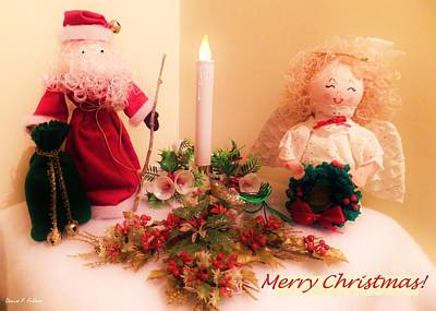 Painting - Santa And Angel by Denise Fulmer