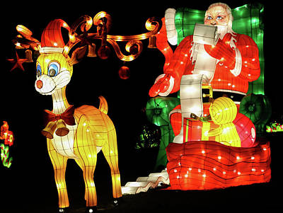 Photograph - Santa And Rudolf by Perggals - Stacey Turner