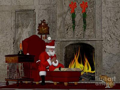 Saint Nicholas Digital Art - Santa And The Naughty And Nice Book by Corey Ford