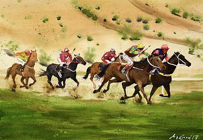 Kentucky Derby Painting - Santa Anita by Max Good