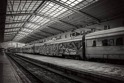 Santa Apolonia Railway Station Lisbon Art Print by Carol Japp