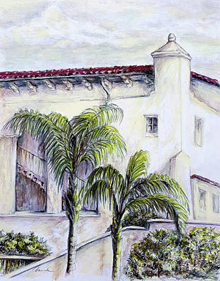 Painting - Santa Barbara Architecture by Danuta Bennett