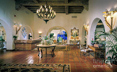 Photograph - Santa Barbara Biltmore Lobby by David Zanzinger