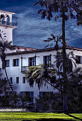 Photograph - Santa Barbara City Hall Part 3- Color by Danuta Bennett