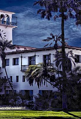 Photograph - Santa Barbara City Hall Part 3- Color by Danuta Bennett