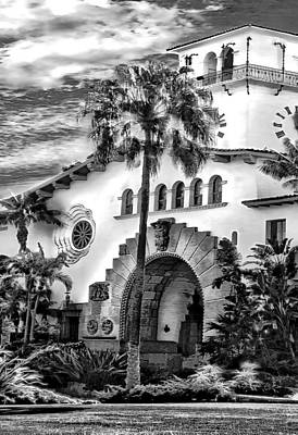 Santa Barbara City Hall Triptych_part2 Art Print by Danuta Bennett