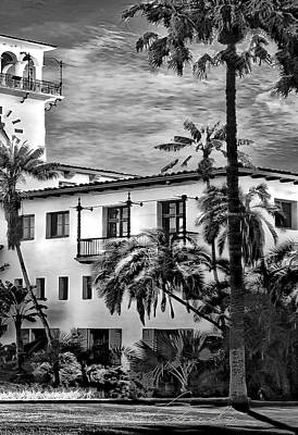 Photograph - Santa Barbara City Hall Triptych_part3 by Danuta Bennett