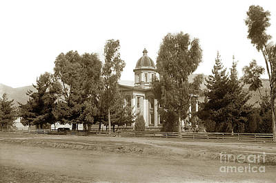 Photograph - Santa Barbara County Courthouse, Completed 1872 Circa 1899 by California Views Archives Mr Pat Hathaway Archives