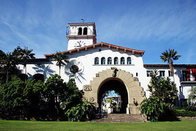 Santa Barbara Courthouse -by Linda Woods Art Print by Linda Woods