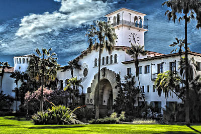 Santa Barbara Courthouse Art Print by Danuta Bennett