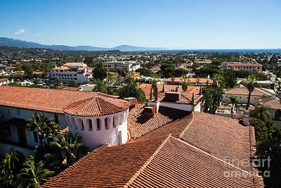 Santa Barbara From Above Art Print by Suzanne Luft